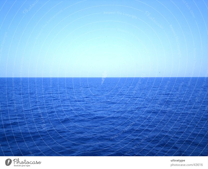 Balearic Sea Wasser Himmel Meer blau Sommer Ferien & Urlaub & Reisen See Graffiti Wellen Horizont