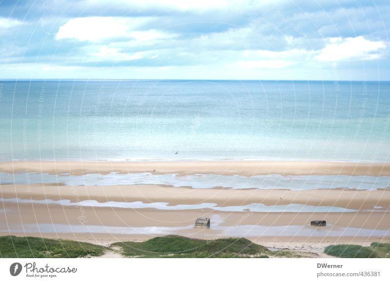 Ärmelkanal Himmel Natur Ferien & Urlaub & Reisen blau Sommer Meer Landschaft ruhig Strand Ferne Küste Freiheit Sand natürlich Felsen Freizeit & Hobby