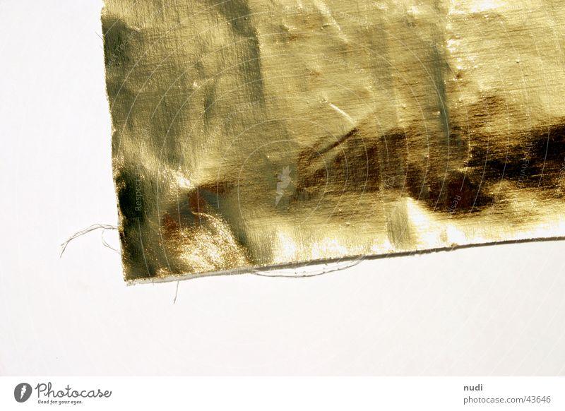 Das kleine Goldene Ecke Stoff niedlich Falte edel reich Nähgarn Kostbarkeit Fetzen