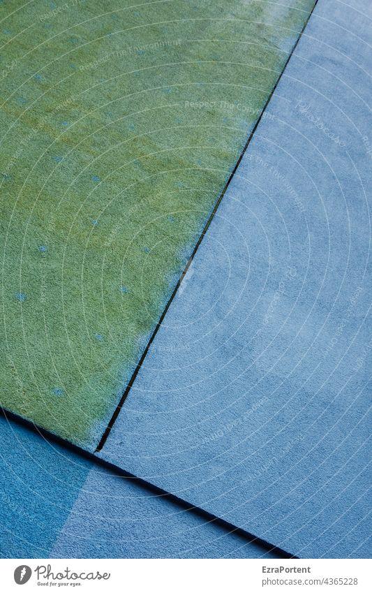 Spalt Fassade Wand Farbe Linien graphisch Strukturen & Formen Architektur abstrakt Design Muster Grafische Darstellung grün blau Grafik u. Illustration
