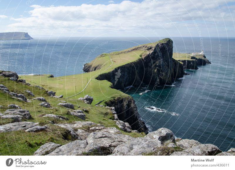 Neist Point Natur Ferien & Urlaub & Reisen Meer Landschaft Ferne Wege & Pfade Freiheit Horizont wandern Insel Europa Ausflug Fernweh Leuchtturm Klippe Atlantik