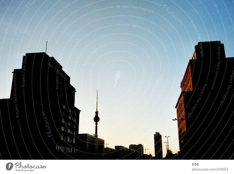 Sundown Berlin Himmel Architektur Berliner Fernsehturm