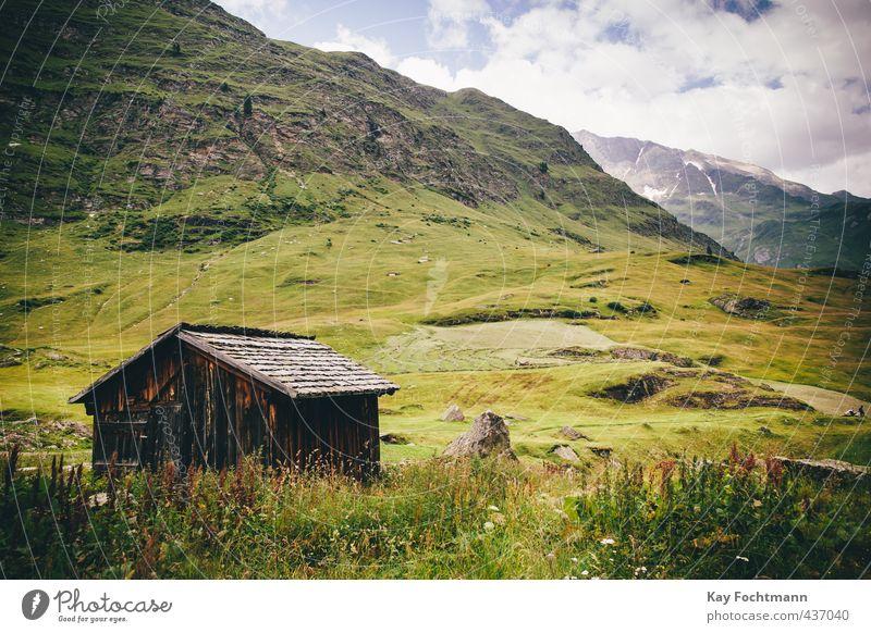 Haus auf der Alm in den Dolomiten, Italien Himmel Natur Ferien & Urlaub & Reisen Sommer Landschaft Erholung Wolken Ferne Berge u. Gebirge Umwelt Gesundheit Gras