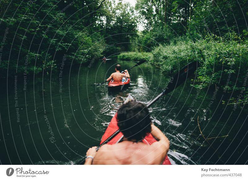 ° Lifestyle Freude Gesundheit sportlich Fitness Leben harmonisch Erholung Freizeit & Hobby Abenteuer Sommer Kajak Sport-Training Wassersport maskulin Mann