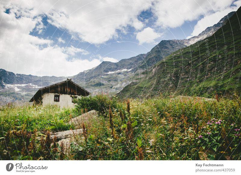 ° Himmel Natur Ferien & Urlaub & Reisen Sommer Erholung Landschaft ruhig Wolken Haus Berge u. Gebirge Umwelt Gesundheit Freiheit Zufriedenheit Tourismus