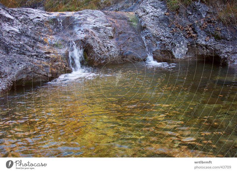 Gebirgsbach Wasser Berge u. Gebirge Stein Wellen Felsen Bach Wasserfall Tal Wasseroberfläche Wildbach