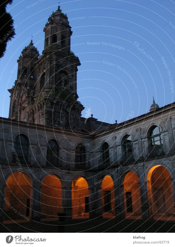 Monastery de Monks Nacht Spanien Gotteshäuser Kloster Religion & Glaube Arkaden Beleuchtung