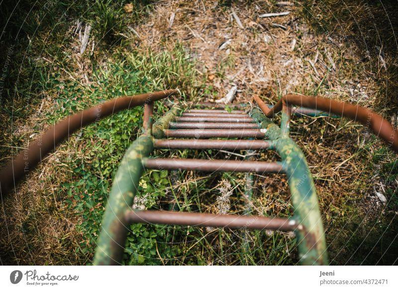 Lost Land Love   Blick nach unten Spielplatz Spielplatzgeräte Rutsche rutschen Treppe Leiter hochgehen runtergehen runtersehen runterschauen von oben