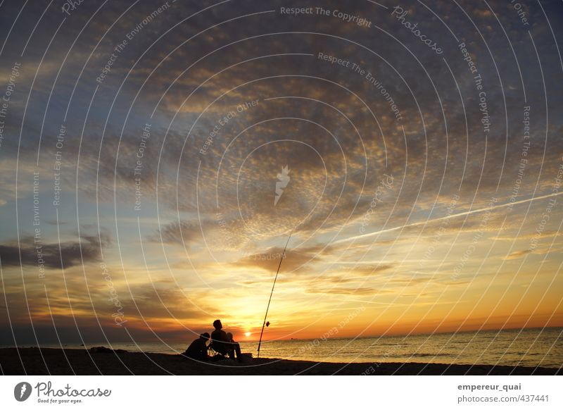 Der Fischer und seine Frau Mensch Mann Ferien & Urlaub & Reisen Wasser Sommer Sonne Meer Erholung Landschaft Wolken Strand Ferne Erwachsene Küste Horizont