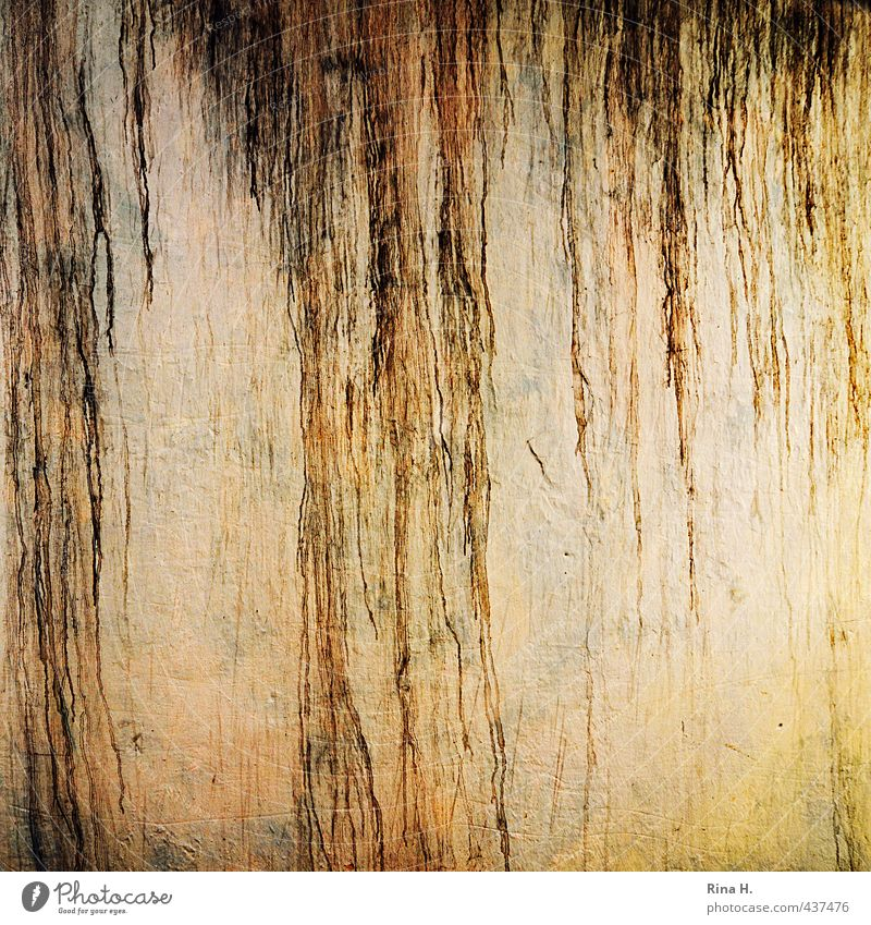 Verwittert gelb Wand Mauer Zeit Hintergrundbild dreckig trist Wandel & Veränderung Spuren verfallen Quadrat rau verwittert