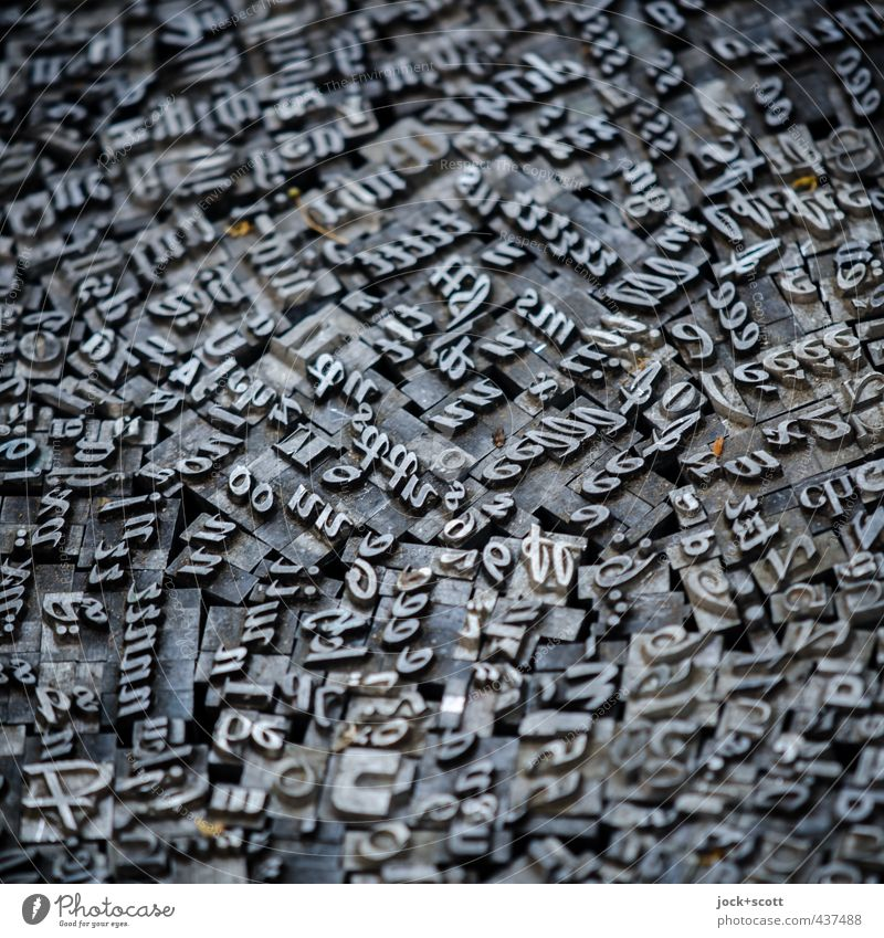 Bstachuebalanst Grafik u. Illustration Buchdruck Sammlung Metall Schriftzeichen lesen elegant fest nah Originalität retro viele Weisheit verstört chaotisch