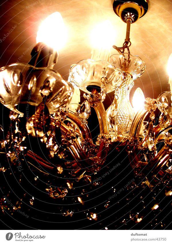 LUXus Lampe braun Kerze Reichtum Kristallstrukturen Kronleuchter