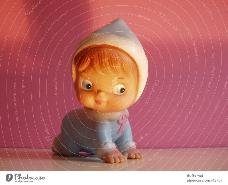 I know I'm so cute Kind Freude Baby rosa süß Kitsch Spielzeug Kindheit niedlich Kleinkind Gummi herzlich Badeente hell-blau Kinderzimmer Stöpsel