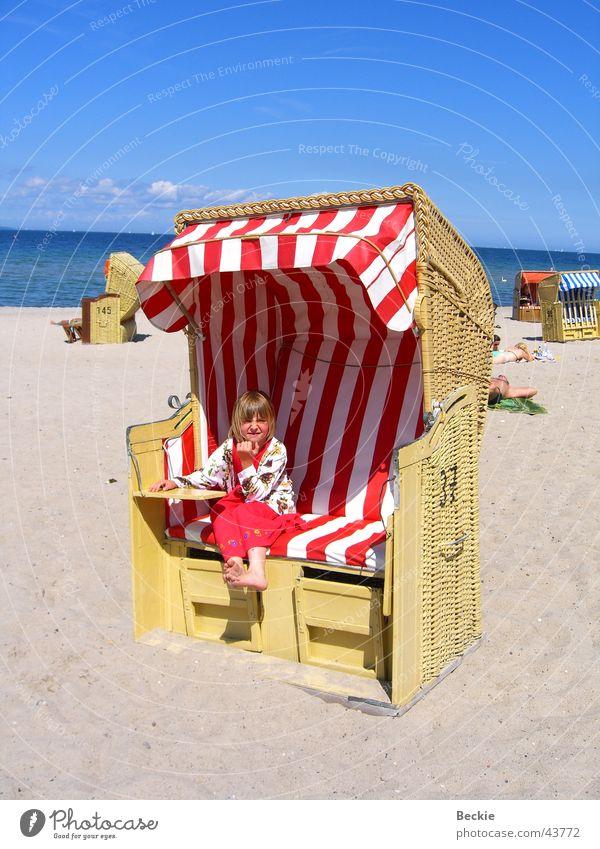 Ostsee-Feeling Sonne Meer Sommer Strand See Europa Strandkorb