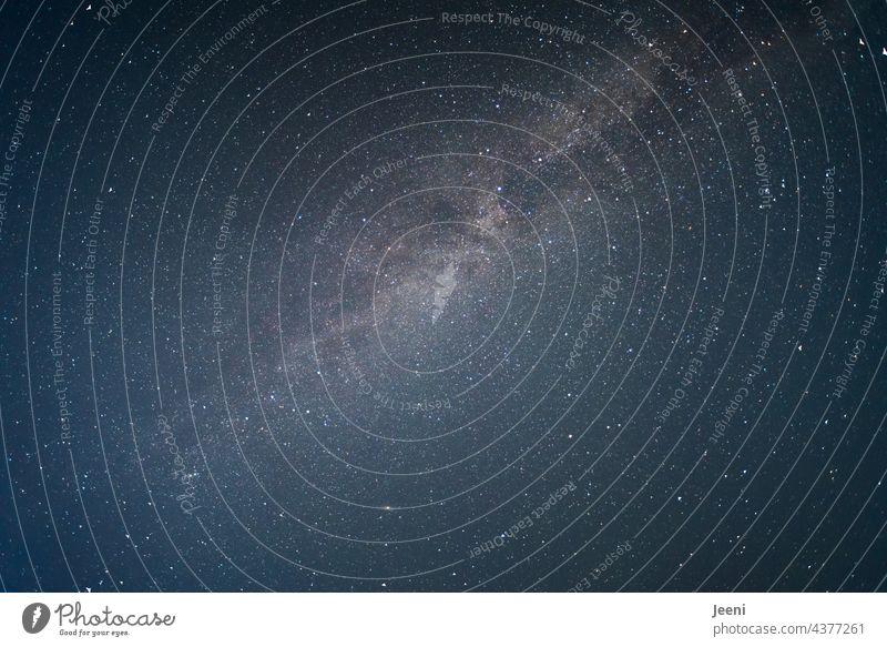 Zwischenräume   zwischen Erde und Milchstraße Nacht Himmel Sternenhimmel sternenklar Sternenhaufen Milchstrasse Sternenzelt Licht Nachthimmel Weltall