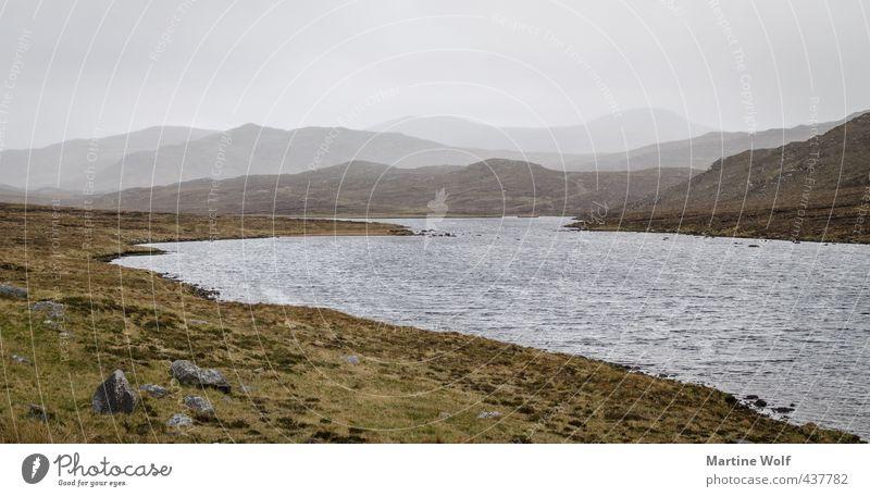Lochcroistean Ferien & Urlaub & Reisen Ausflug Ferne Natur Landschaft schlechtes Wetter Nebel Seeufer Insel Isle of Lewis Schottland Großbritannien