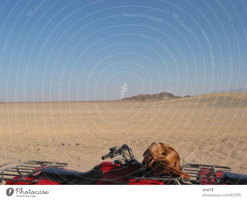 Quad Safari Buggy (Motorrad) rot braun Ferien & Urlaub & Reisen Ägypten Hurghada Wüste Himmel Sand blau Rotes Meer