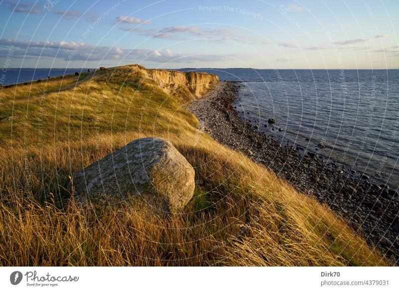 Halbinsel Ordrup Næs, Seeland, dänische Ostsee Küste Strand Steilküste Kliff Stein Meer Landschaft Natur Wasser Himmel Außenaufnahme Felsen Idylle Menschenleer