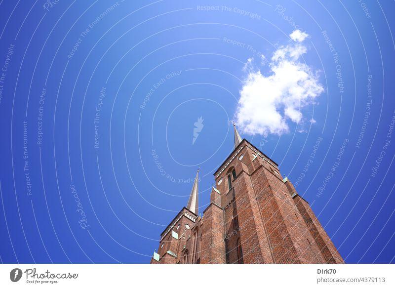 Dom zu Roskilde, Froschperspektive Kirche UNESCO-Weltkulturerbe Kathedrale Gotik Religion & Glaube Architektur Außenaufnahme Farbfoto Sehenswürdigkeit