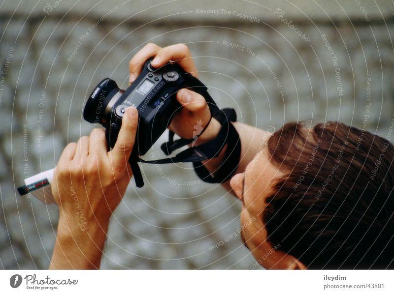 Fotograf Fotografie Vogelperspektive Motivation Sucher Mann beobachten