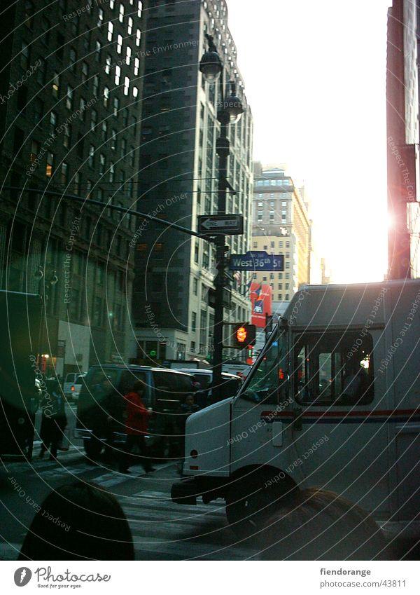 streetlife New York City Eile Stress Verkehr Straße