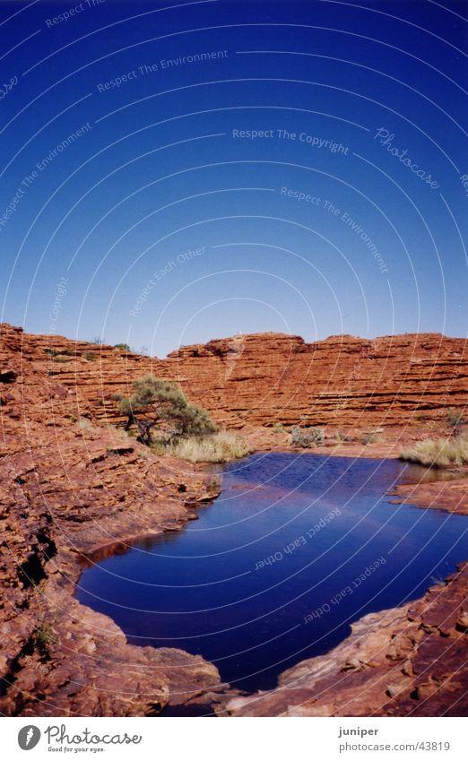 Bluelake See Reflexion & Spiegelung Kontrast Australien Illusion Wüste Wasser Felsen Stein