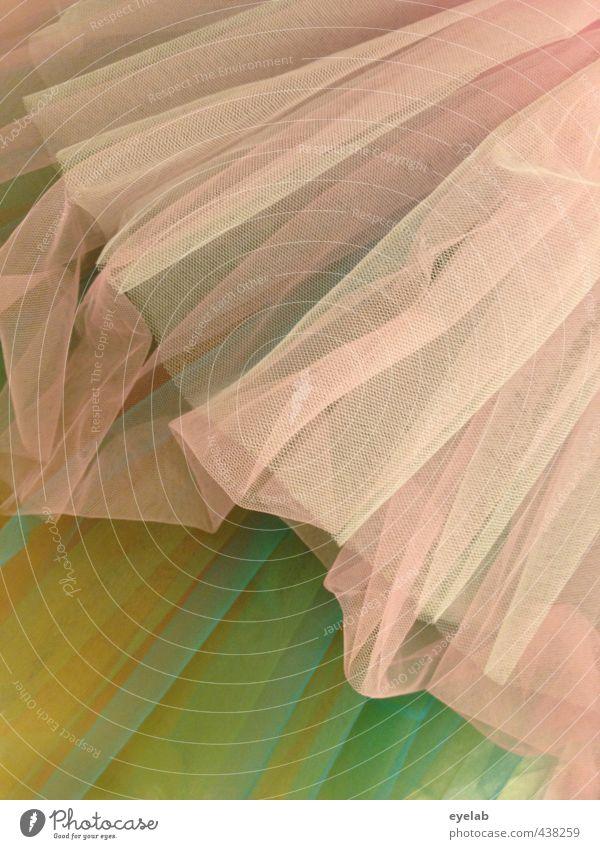 Sie trägt 'nen Faltenrock... grün gelb feminin Sport Bewegung Stil Mode rosa Tanzen Bekleidung niedlich weich Show Kultur Kleid Stoff