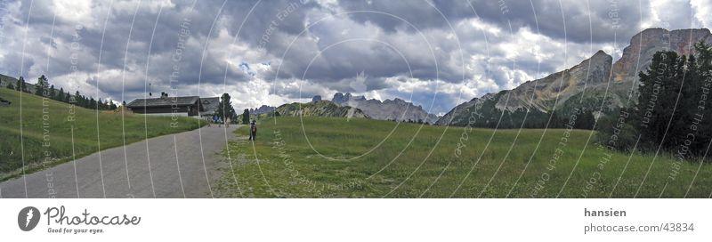 Plätzwiese Dolomiten Wolken Panorama (Aussicht) Berge u. Gebirge dramatisch groß Panorama (Bildformat)