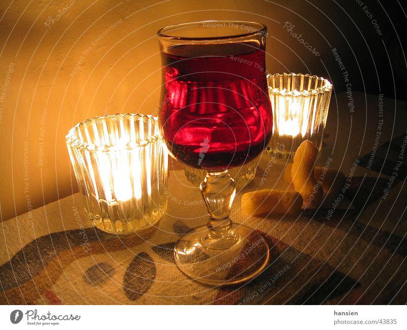 Käsecracker Rotwein Kerze Licht Stimmung Ferien & Urlaub & Reisen Glas Alkohol Abend
