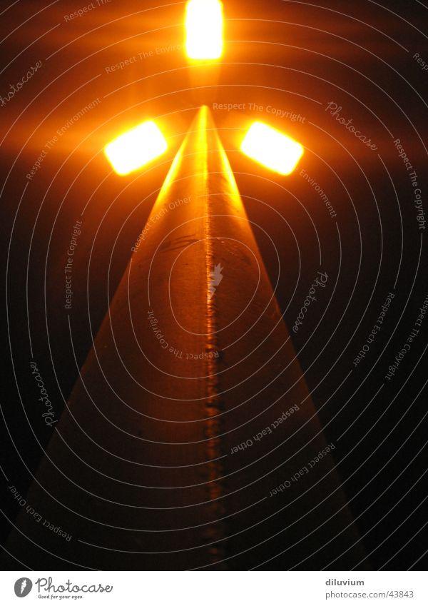 Laternenpfahl Licht Reflexion & Spiegelung Langzeitbelichtung Elektrisches Gerät Technik & Technologie orange Pfosten hoch
