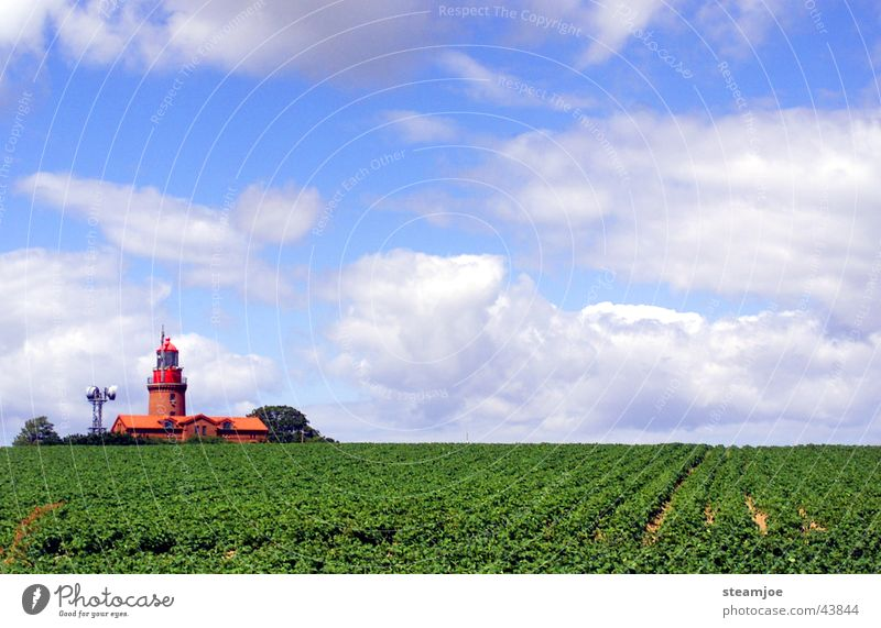 Leuchtturm Bastorf bei Kühlungsborn Wolken Landschaft Wasserfahrzeug Graffiti Architektur Leuchtturm Ostsee Mecklenburg-Vorpommern Kühlungsborn