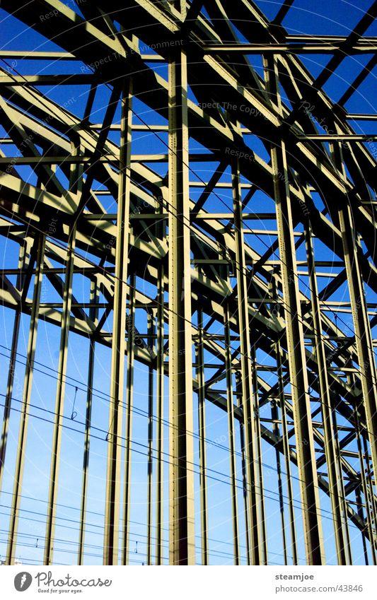 Hohenzollernbrücke Brücke Köln Stahl Eisenbahnbrücke