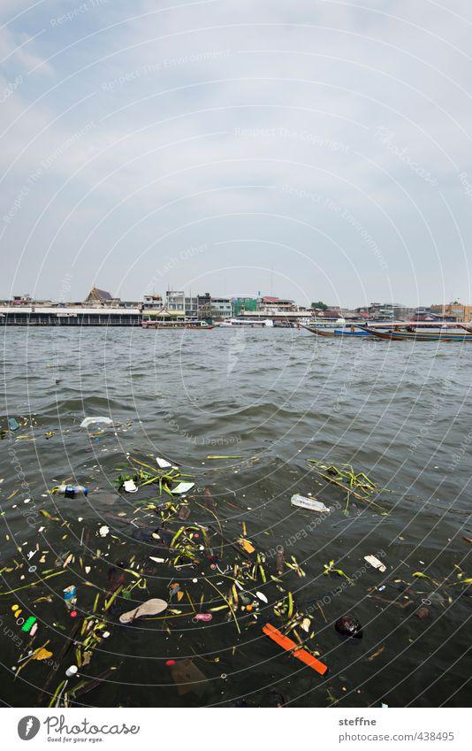 Dirty South (East) Umwelt Bangkok Thailand Asien Südostasien Hauptstadt Hafenstadt Umweltverschmutzung Umweltschutz Müll Fluss Farbfoto Außenaufnahme