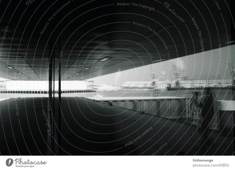 unfreiwillige spiegelung Architektur modern Hafen Fotograf