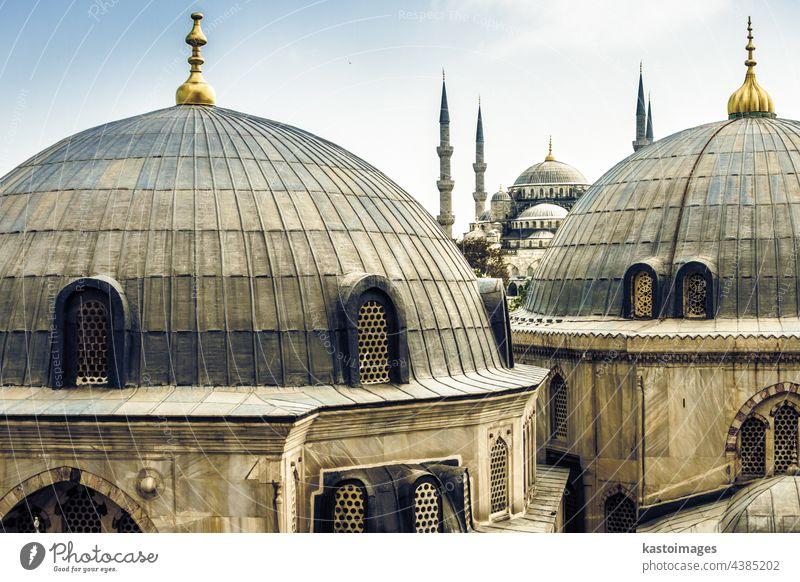 Blaue Sultan-Ahmed-Moschee in Istanbul, Türkei. Blaue Moschee Truthahn architektonisch Wahrzeichen Sultan Ahmet Architektur Konstantinopel Orient Religion Islam