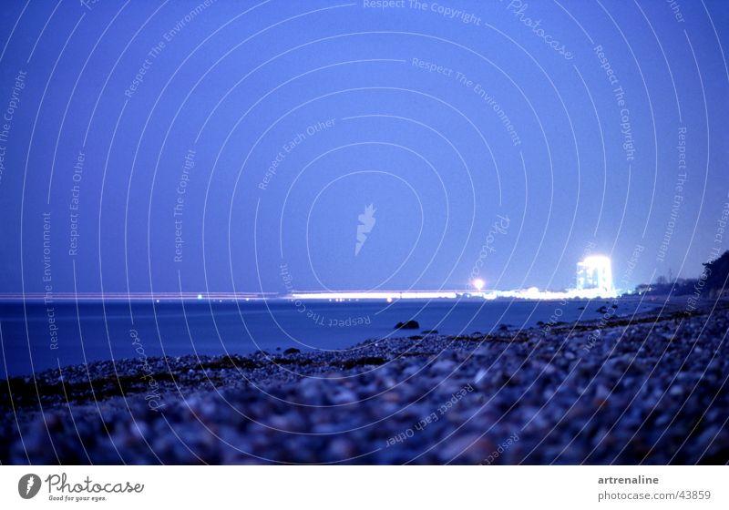 Lichtfähre Wasser Strand Horizont Schifffahrt