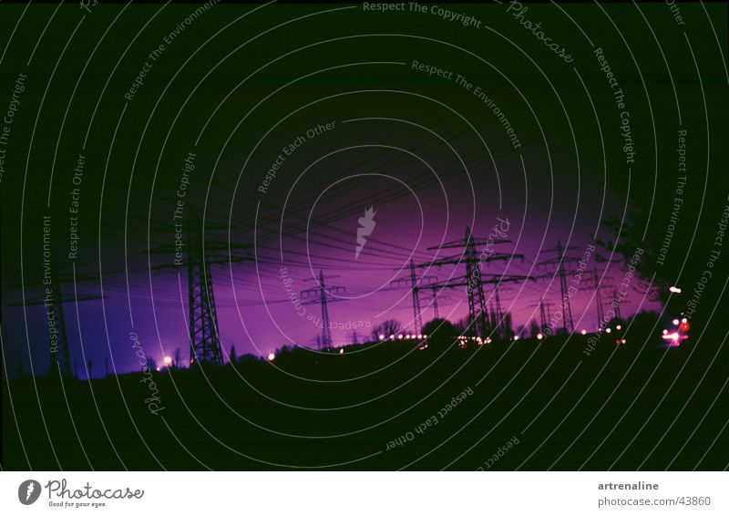 Knistern Lampe Horizont Industrie Elektrizität Strommast elektronisch