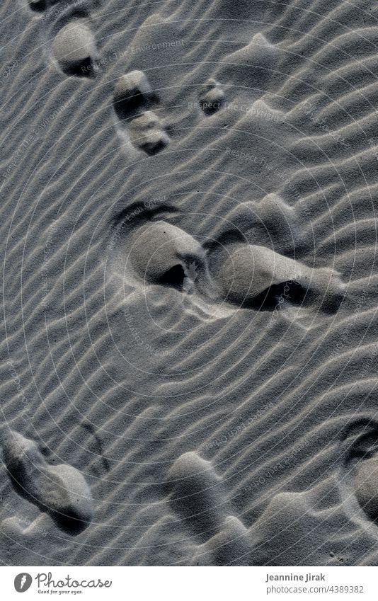 Keine Fußspuren im Sand Sandstrand Spuren Muster Stranddüne Urlaub Abstraktion Urlaubsort Beach Formation