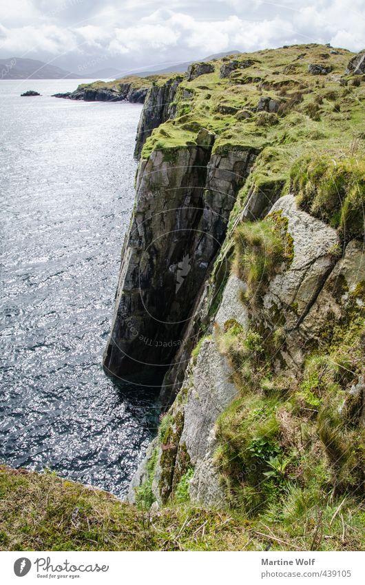 die Klippen von An Aird Ferien & Urlaub & Reisen Ausflug Ferne Freiheit Natur Landschaft Felsen Küste Meer Atlantik Halbinsel Steinküste Großbritannien