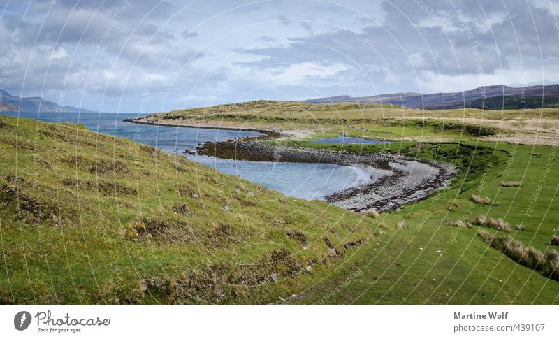 An Aird II Ferien & Urlaub & Reisen Ausflug Ferne Freiheit Natur Landschaft Himmel Gras Küste Bucht Meer Atlantik Teich Halbinsel Isle of Skye Innere Hebriden