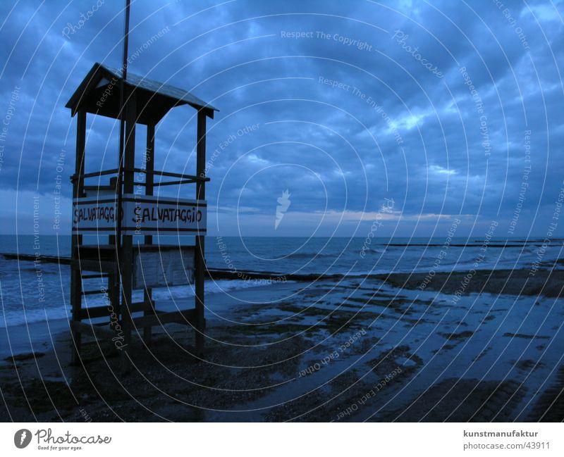 Rettungsschwimmer Strand Ferien & Urlaub & Reisen Wolken Einsamkeit Europa Venedig Caorle