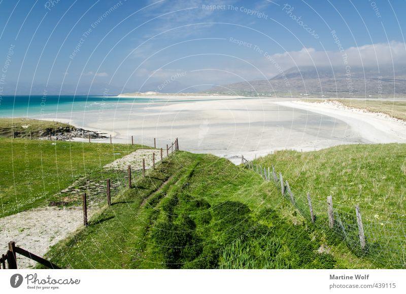 caribbean Scotland Natur Ferien & Urlaub & Reisen schön Sommer Meer Landschaft Strand Ferne Gras Küste Freiheit Schwimmen & Baden Idylle Insel Europa Atlantik