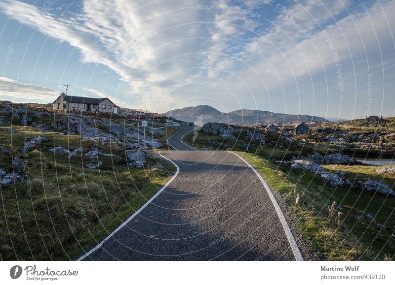 streets of South Harris Ferien & Urlaub & Reisen Ausflug Freiheit Natur Landschaft Himmel Hügel Quidinish Schottland Großbritannien Äußere Hebriden Europa