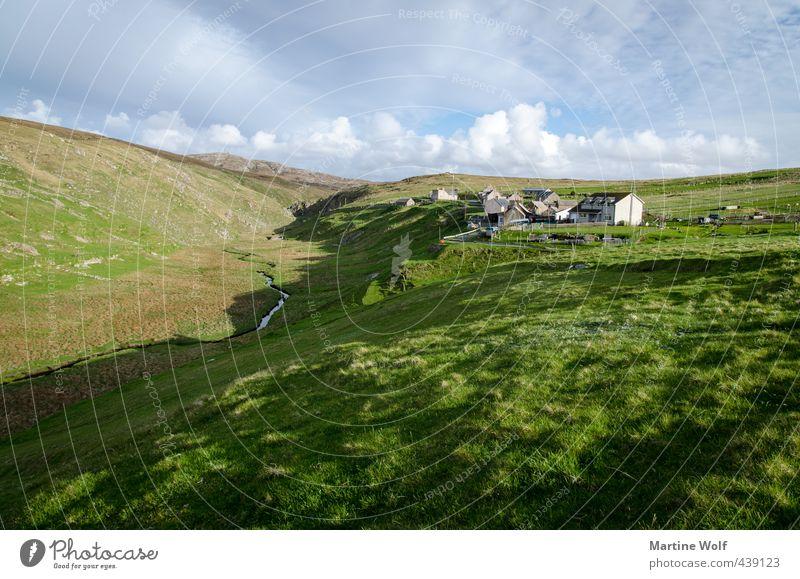 Aird Uig Natur Ferien & Urlaub & Reisen Stadt Landschaft Haus Ferne Wiese Gras Freiheit frei Europa Ausflug Fluss Hügel Dorf Tal