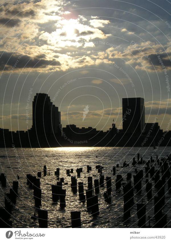 tombstones@groundzero Gewässer New York City Ground Zero Dämmerung Grabstein Architektur USA 9/11