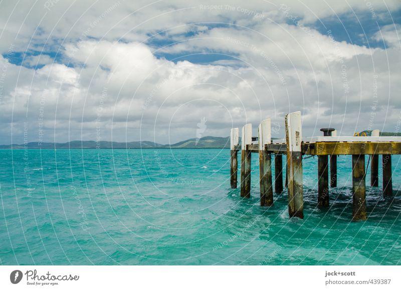 Berth Thursday Island Ferne Wolken Schönes Wetter Meer Pazifik Insel Anlegestelle Schifffahrt Hafen exotisch maritim Wärme türkis Stimmung Zufriedenheit