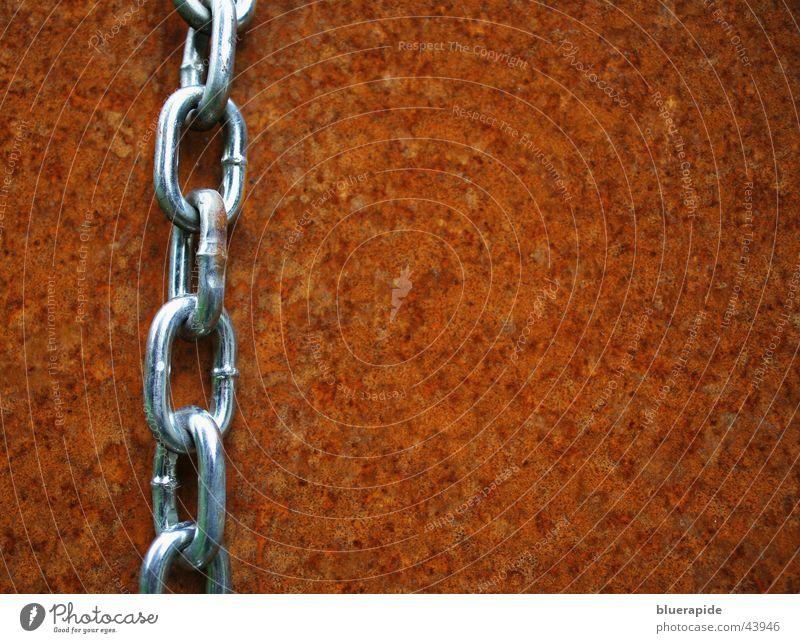 Kette #1 Stahl wetterfest glänzend Grill Freizeit & Hobby Rost orange Kontrast silbern Gliedmaßen neu