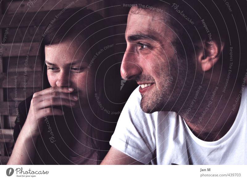 Oh dear! Mensch maskulin feminin Junge Frau Jugendliche Junger Mann Paar Partner Erwachsene Gesicht 2 18-30 Jahre Sommer Schönes Wetter Garten T-Shirt