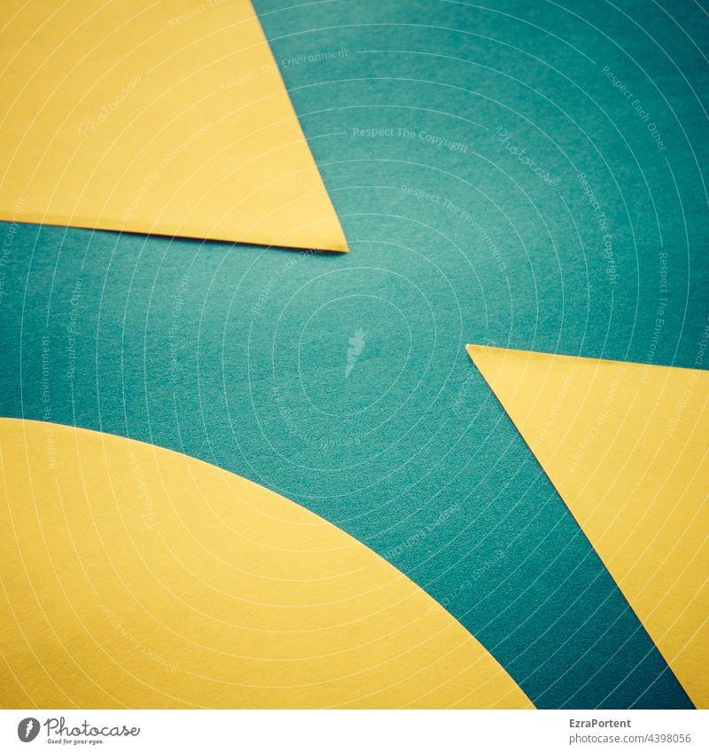 > < Textfreiraum Pfeil Geometrie Design Zeichen abstrakt graphisch Grafische Darstellung Farbe gelb blau Hintergrundbild Grafik u. Illustration Papier