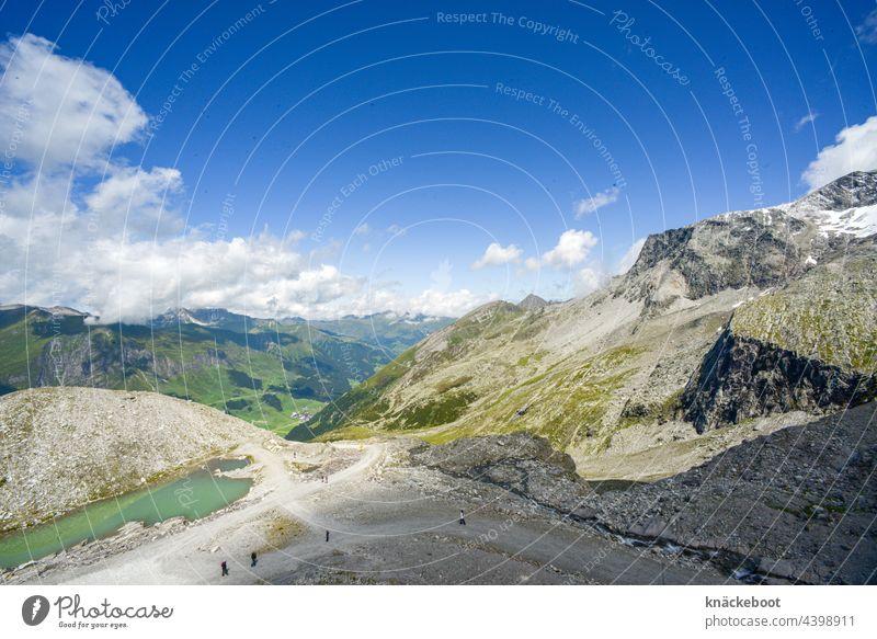 hintertux Alpen Berge u. Gebirge Landschaft Himmel Wolken Tag Felsen Gipfel Schönes Wetter Natur Außenaufnahme Farbfoto Schnee Gletscher Österreich alpin